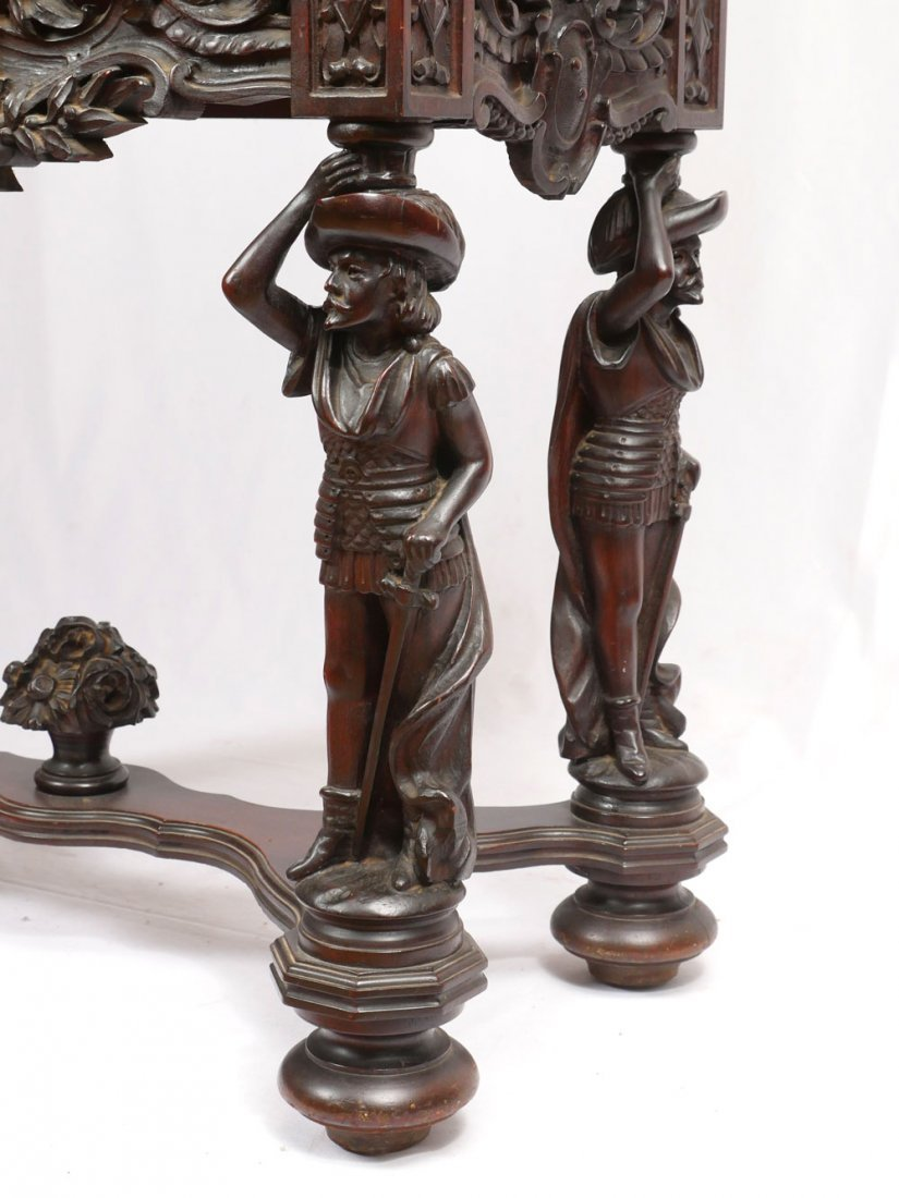 HIGHLY CARVED FIGURAL CUPBOARD - 3