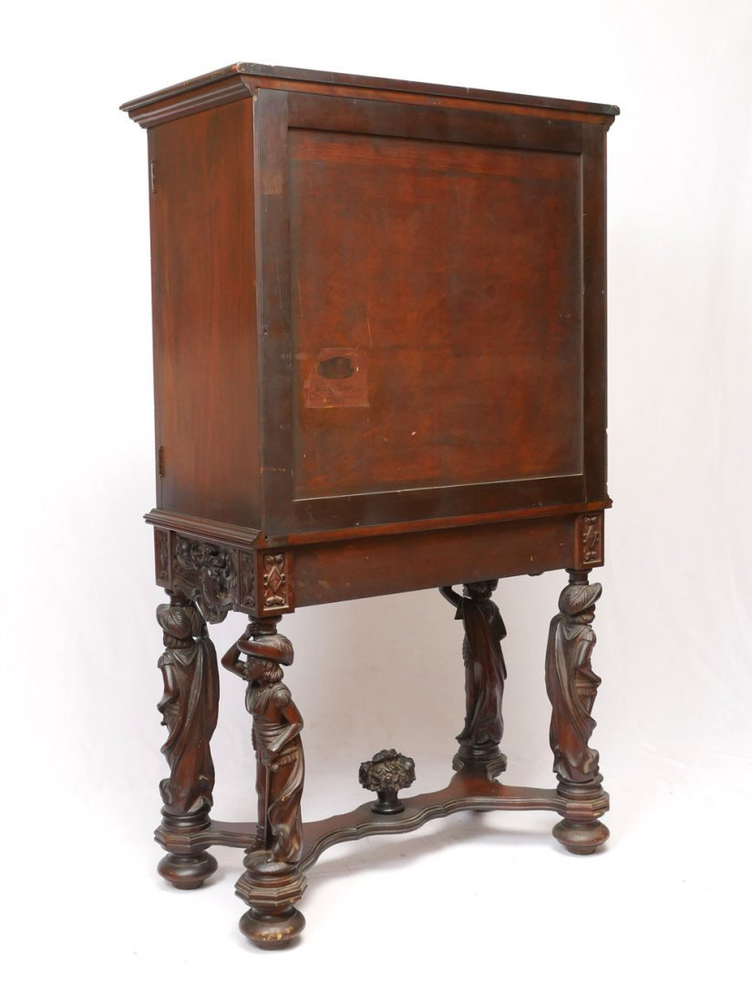 HIGHLY CARVED FIGURAL CUPBOARD - 6