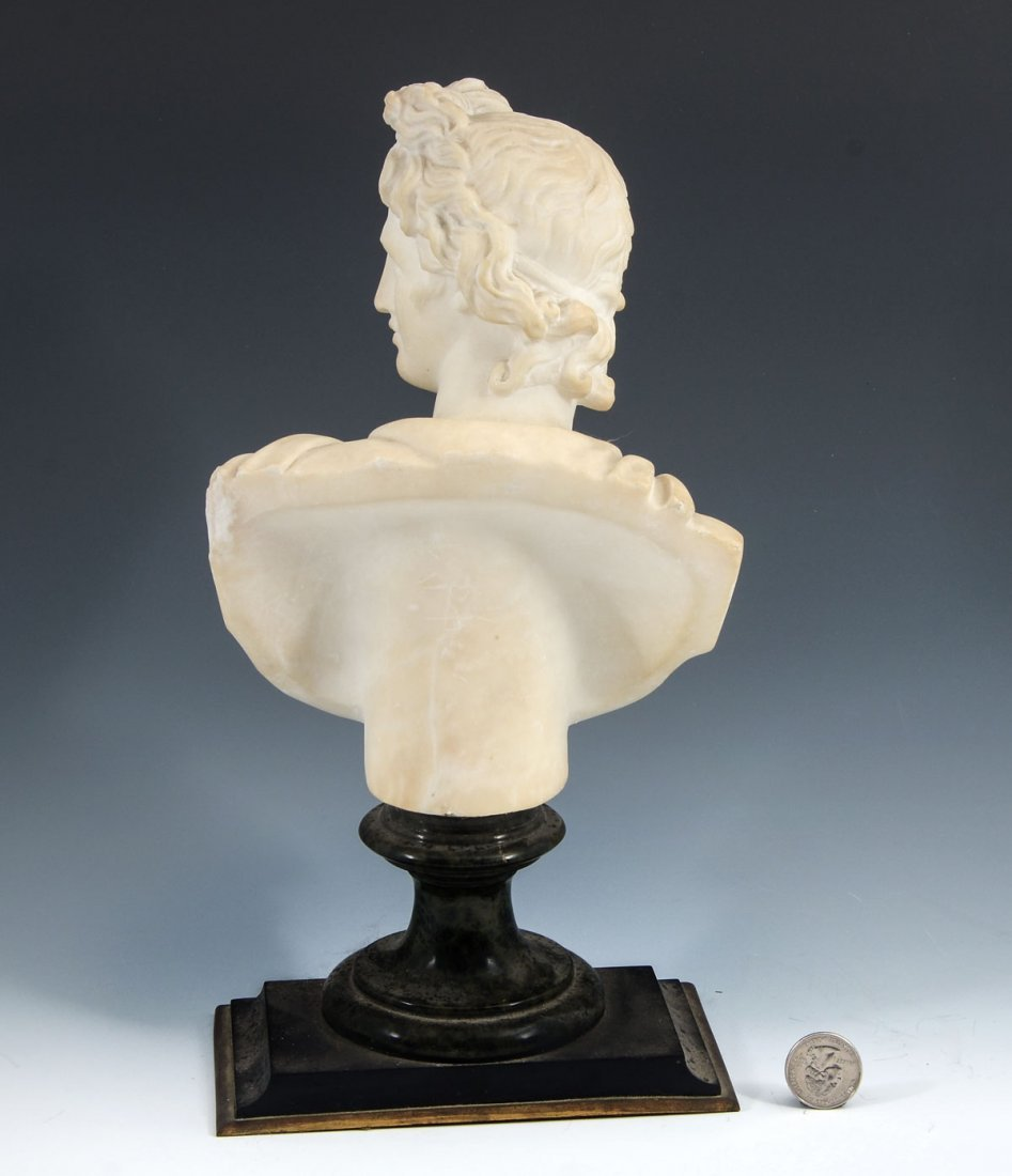 ALABASTER BUST OF APPOLLO - 2