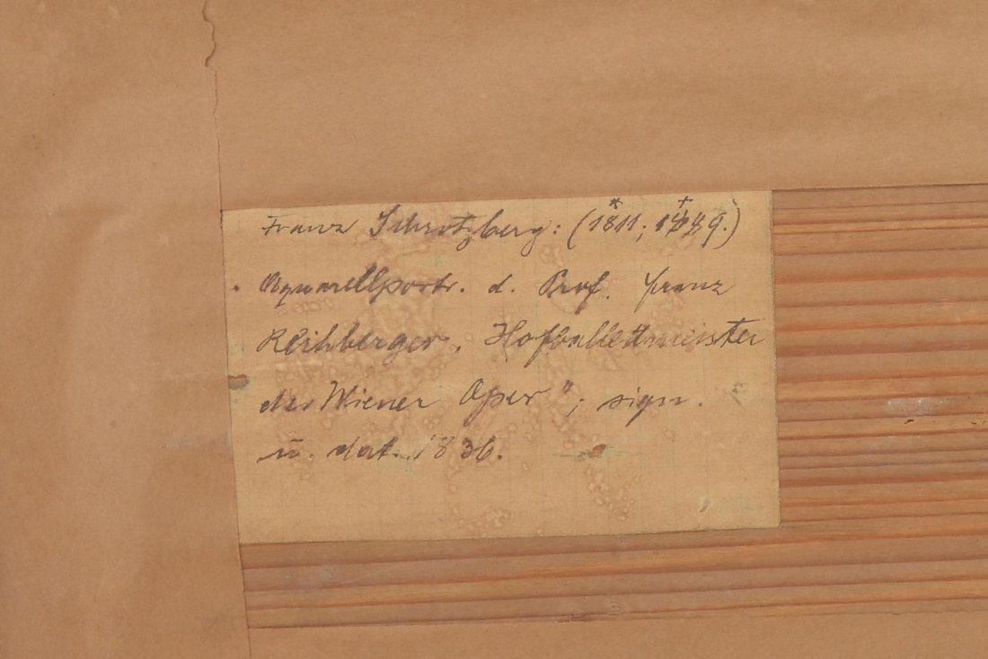 ILLEGIBLY SIGNED 19TH C. MINIATURE LANDSCAPE PAINTING - 4