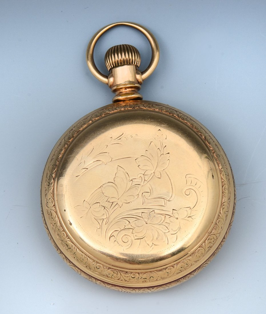 AMERICAN WATCH CO WALTHAM HUNTER POCKET WATCH 1883 - 5