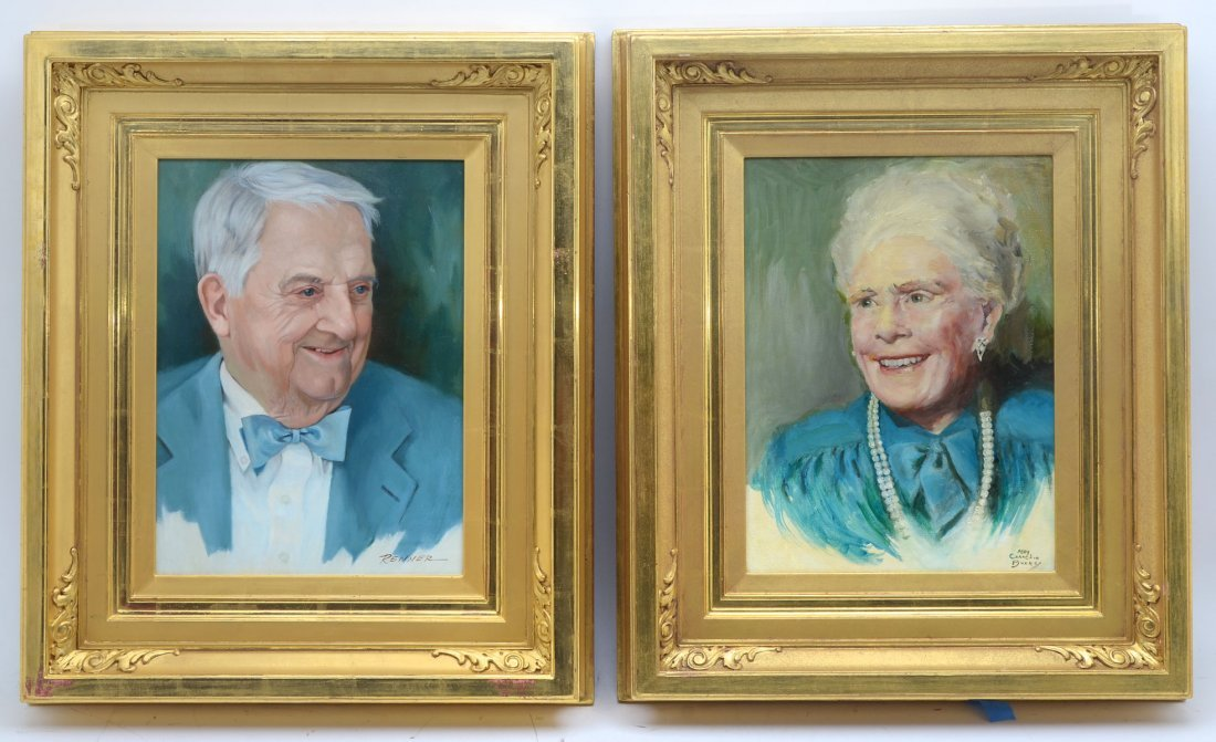PORTRAIT PAINTINGS OF MR. AND MRS. BENFIELD