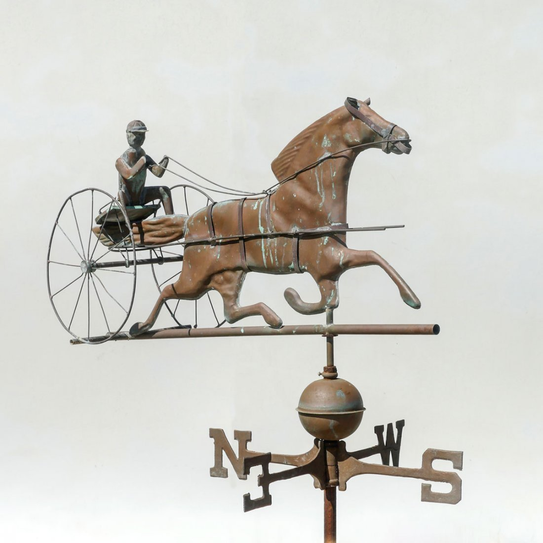 OLD HORSE & JOCKEY COPPER WEATHERVANE