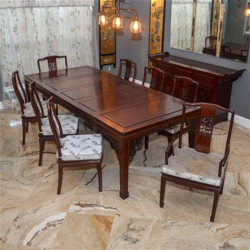 brand new 0baaf 4fac3 CHINESE DINING TABLE AND 8 CHAIRS