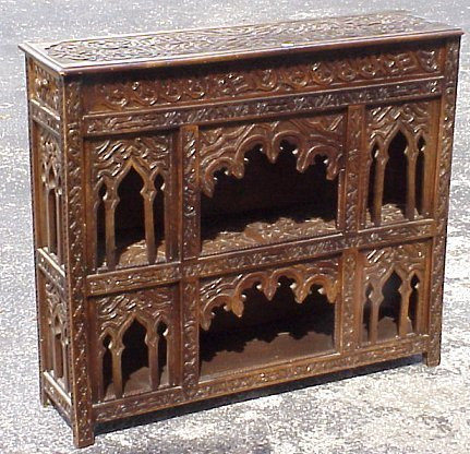 12: PAIR 19TH C OTTOMAN OPEN DISPLAY CUPBOARDS SHELVES