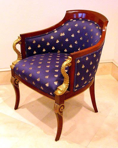 18: PR DOLPHIN CARVED FRENCH STYLE CHAIRS BY COUNCIL