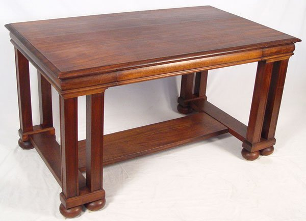 20: PAINE FURNITURE MAHOGANY LIBRARY TABLE