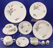 442 61 pc ROSENTHAL CHINA SERVICE FOR 8  Pink Rose