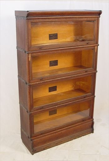 321: MACEY'S TIGER OAK  BARRISTER'S 4 STACK BOOKCASE