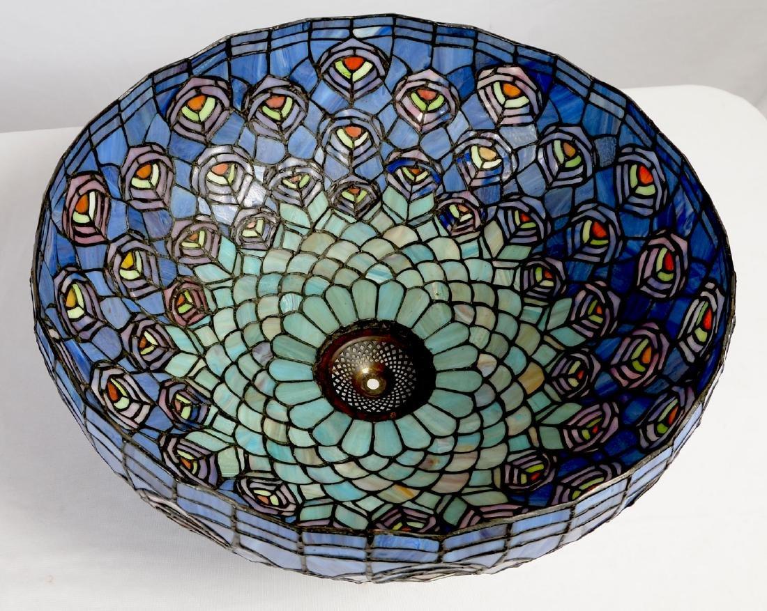 TIFFANY STYLE SLAG GLASS TABLE LAMP - 5