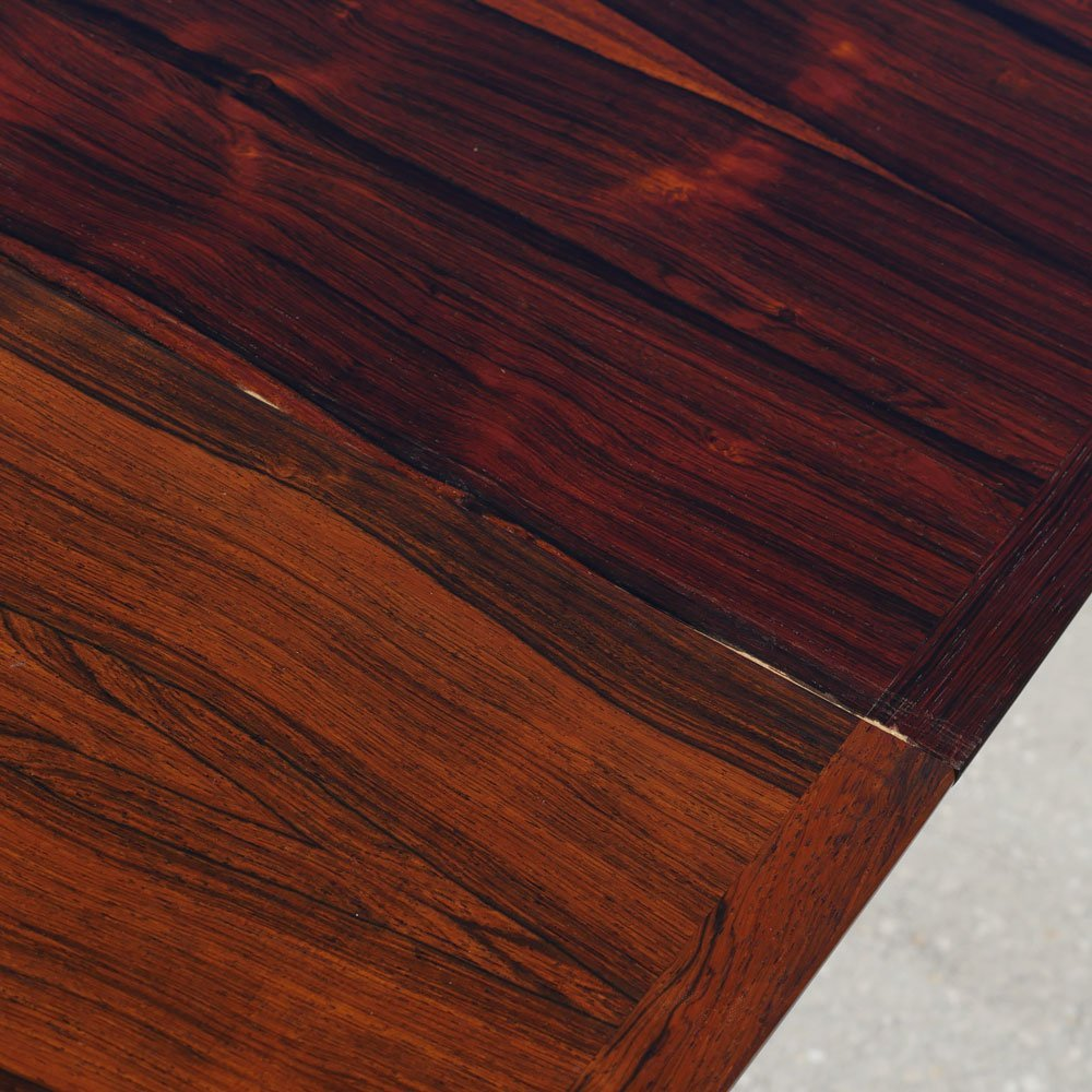 WESNOFA BOOKMATCH ROSEWOOD DINING TABLE W 2 LEAVES - 5