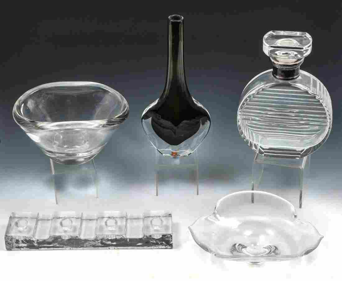 5 PC MID CENTURY CRYSTAL COLLECTION