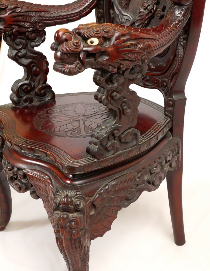 CARVED DRAGON CHAIR - 2