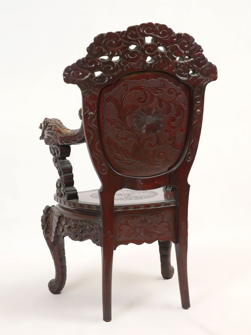 CARVED DRAGON CHAIR - 4