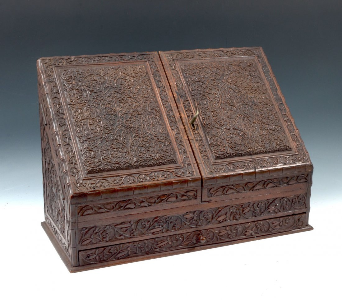 CARVED ASIAN LETTER BOX