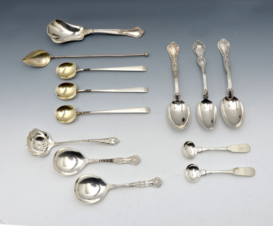 13 PC. MISCELLANEOUS STERLING SPOON COLLECTION