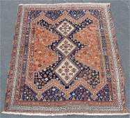1169 HAND TIED ANIMAL AFSHAR  RUG CARPET  aprx 6 X 5