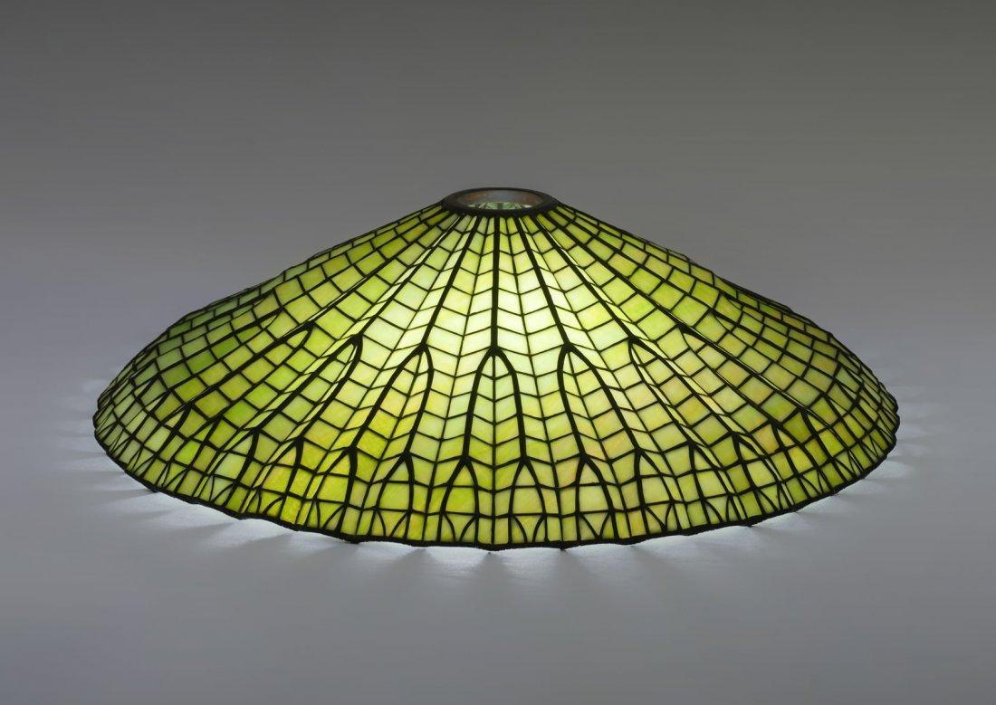 LARGE ART DECO SLAG GLASS SHADE