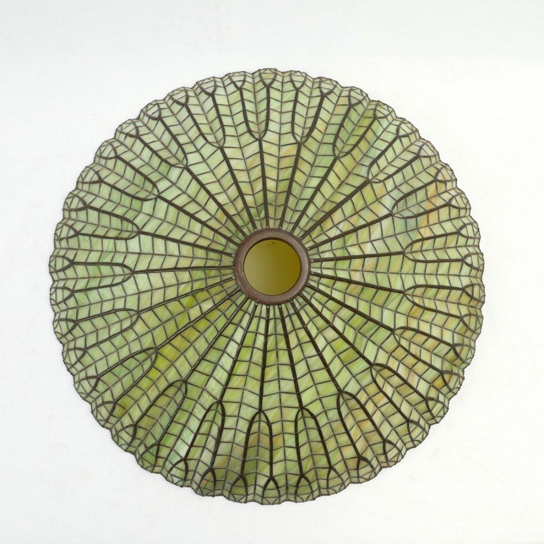 LARGE ART DECO SLAG GLASS SHADE - 2