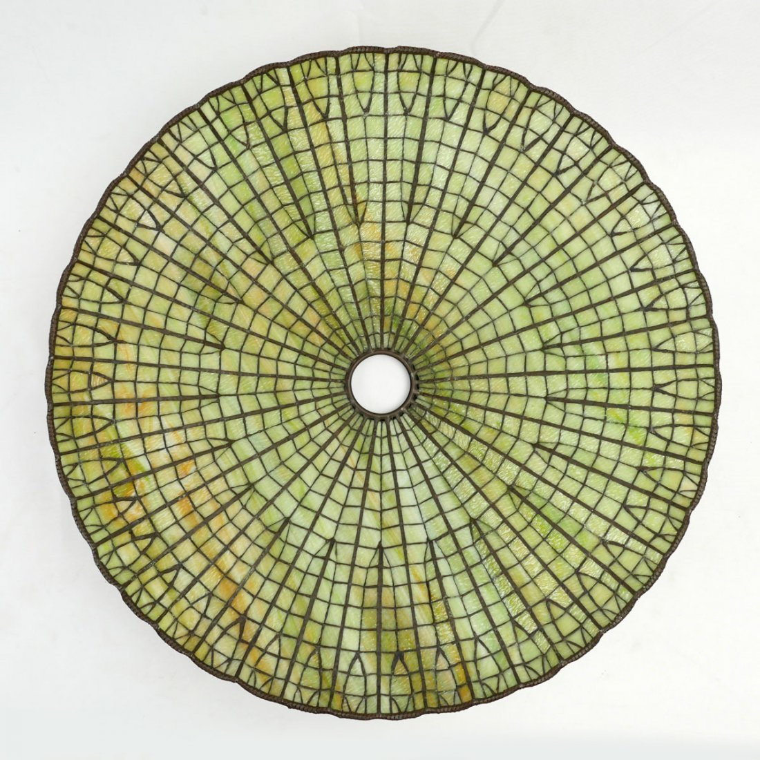 LARGE ART DECO SLAG GLASS SHADE - 3