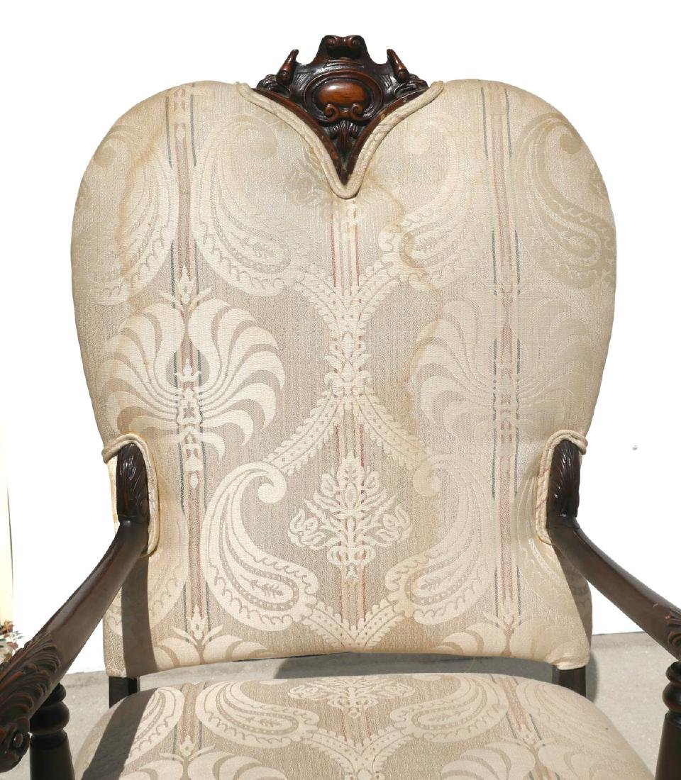 PAIR OF CARVED FOLIATE CHAIRS - 3