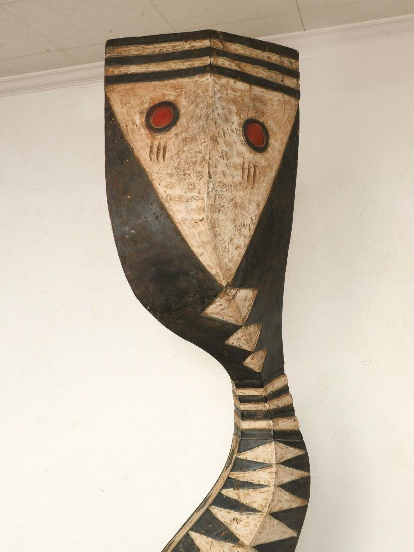 LARGE AFRICAN BAGA SNAKE CARVING - 3