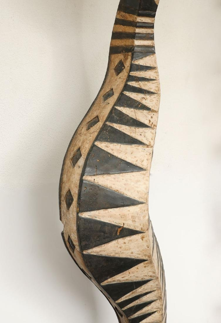 LARGE AFRICAN BAGA SNAKE CARVING - 4