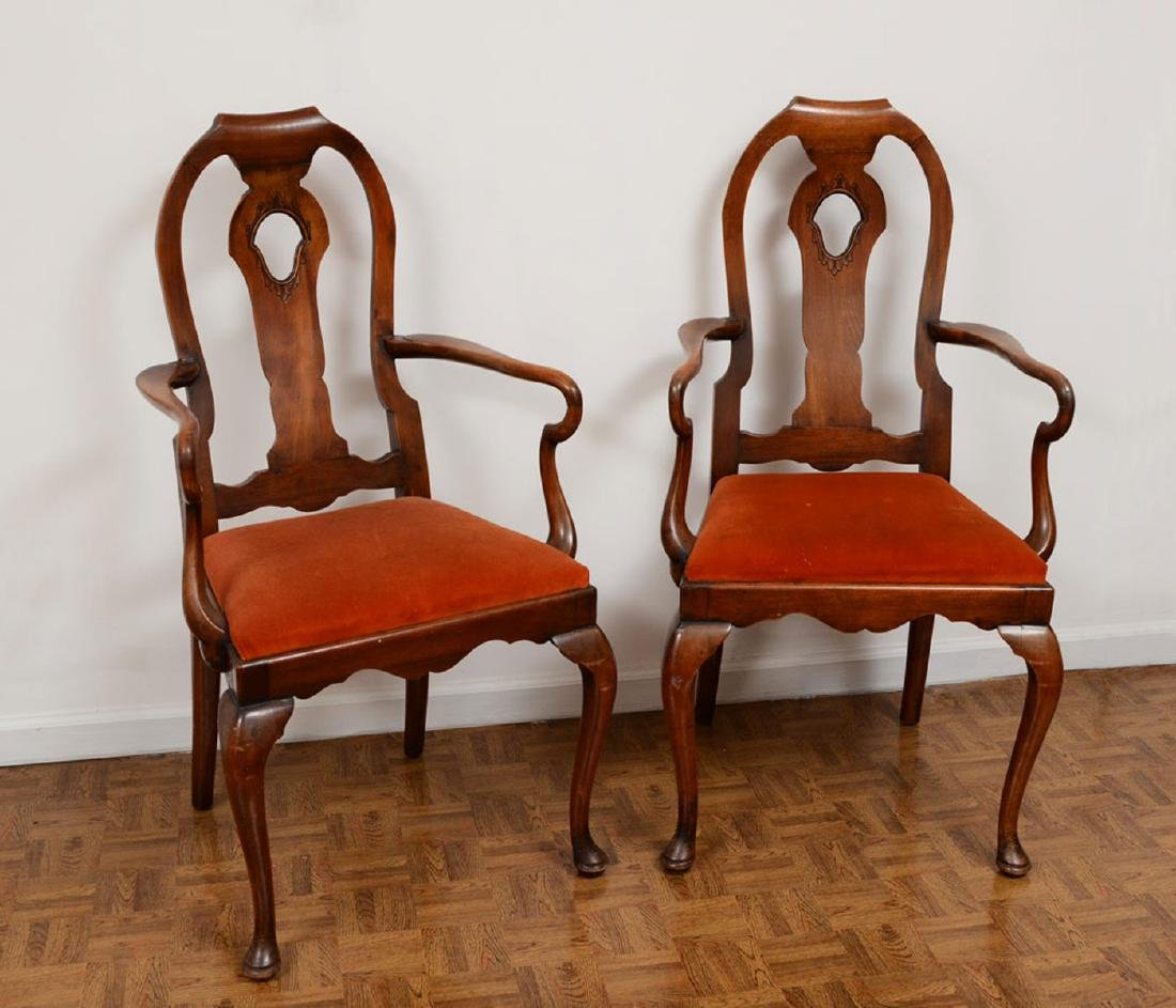 PAIR QUEEN ANNE SIDE CHAIRS
