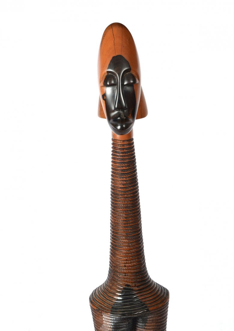 CARVED AFRICAN FEMALE FIGURE - 2