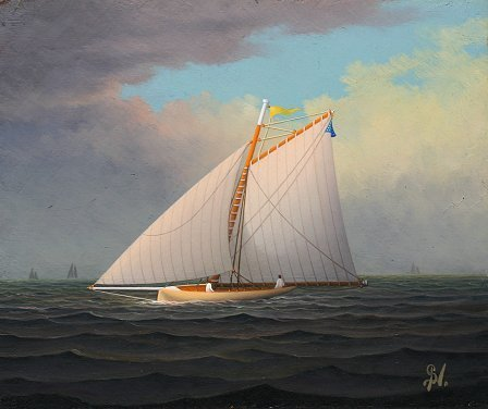 10. GEORGE NEMETHY SAILING PAINTING