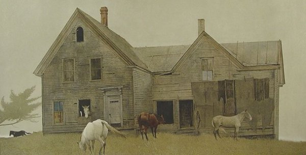 177: ANDREW WYETH SIGNED COLLOTYPE OPEN HOUSE