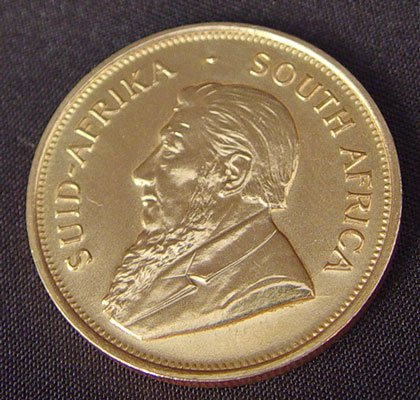 258: 1974 GOLD KRUGERRAND 1 OZ AFRICAN FYNGOUD - 2