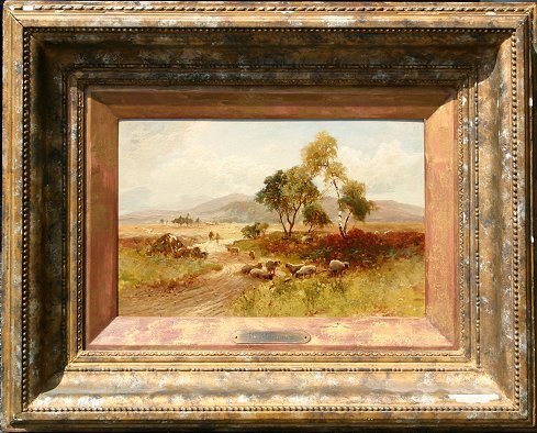 1019: WILLIAM MANNERS PAINTING WITH SHEEP - 5