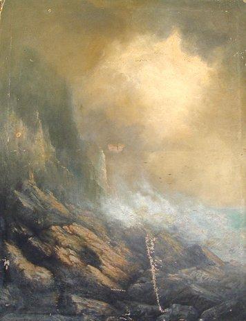1023: J.E. BLACKMORE CORNISH COAST PAINTING