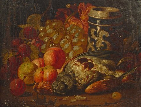 1024: EARLY DUTCH? OLD MASTER STYLE STILL LIFE PAINTING