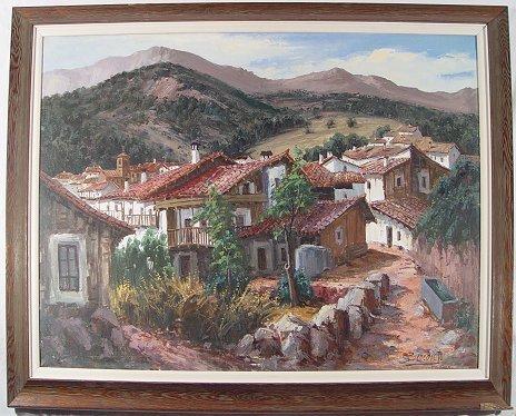 1046: SPANISH LANDSCAPE PAINTING SIGNED BENEDICTO