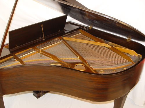 1126: 1928 CABLE CROWNSTAY MAHOGANY BABY GRAND PIANO - 3
