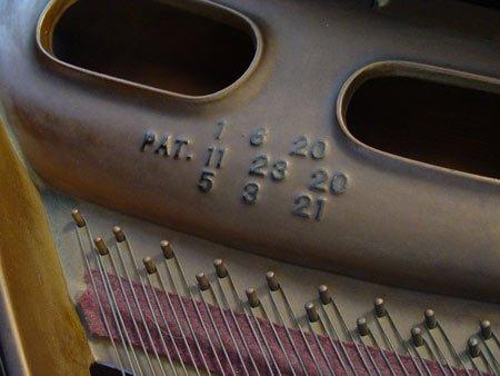 1126: 1928 CABLE CROWNSTAY MAHOGANY BABY GRAND PIANO - 4