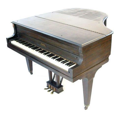 1126: 1928 CABLE CROWNSTAY MAHOGANY BABY GRAND PIANO - 5