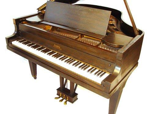1126: 1928 CABLE CROWNSTAY MAHOGANY BABY GRAND PIANO - 7
