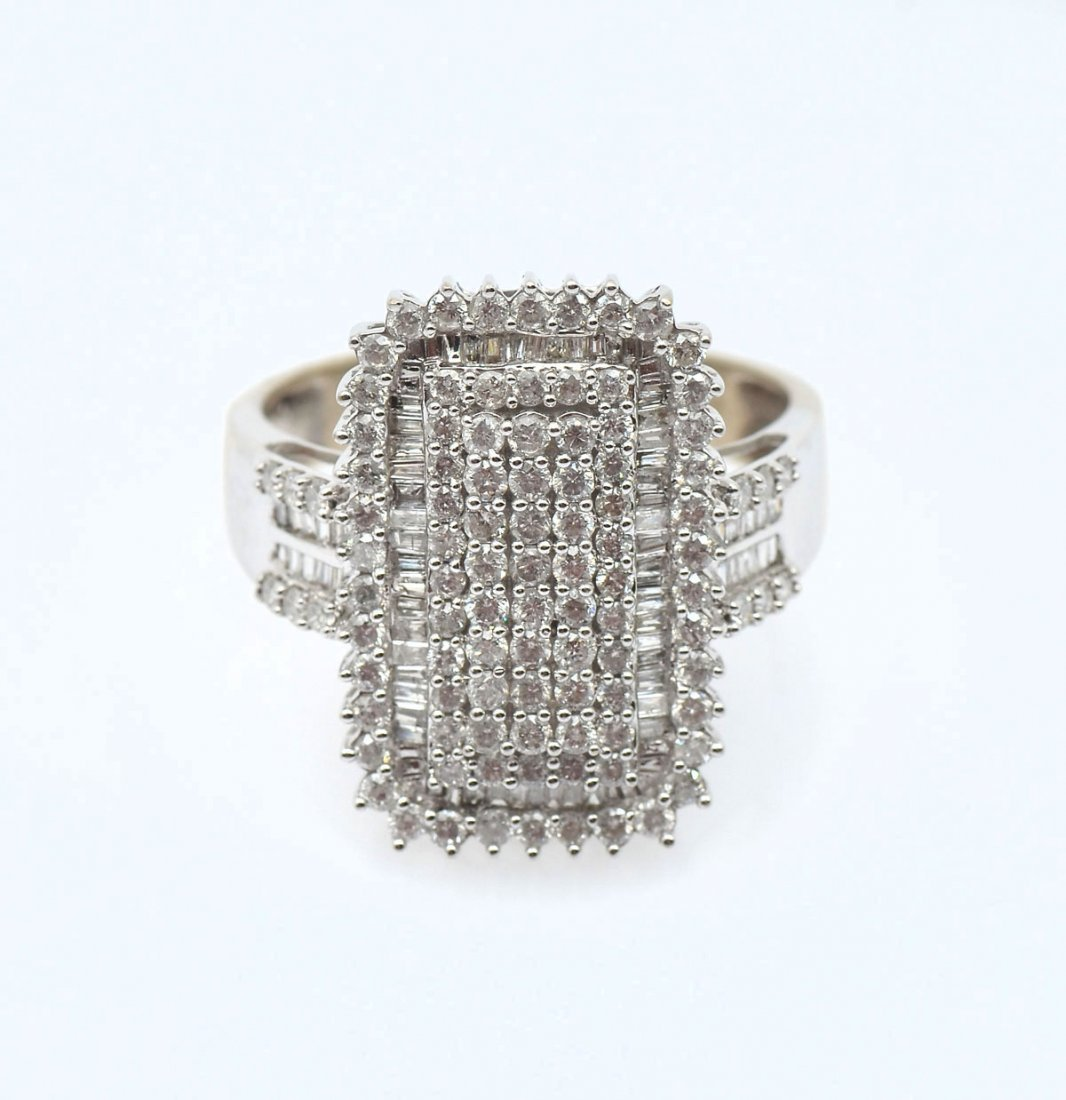 14K WHITE GOLD PAVE DIAMOND COCKTAIL RING