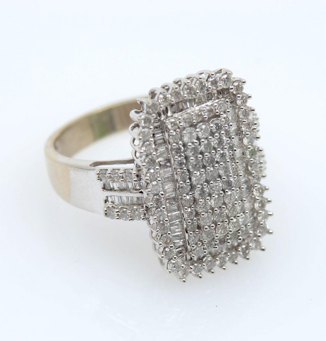 14K WHITE GOLD PAVE DIAMOND COCKTAIL RING - 2