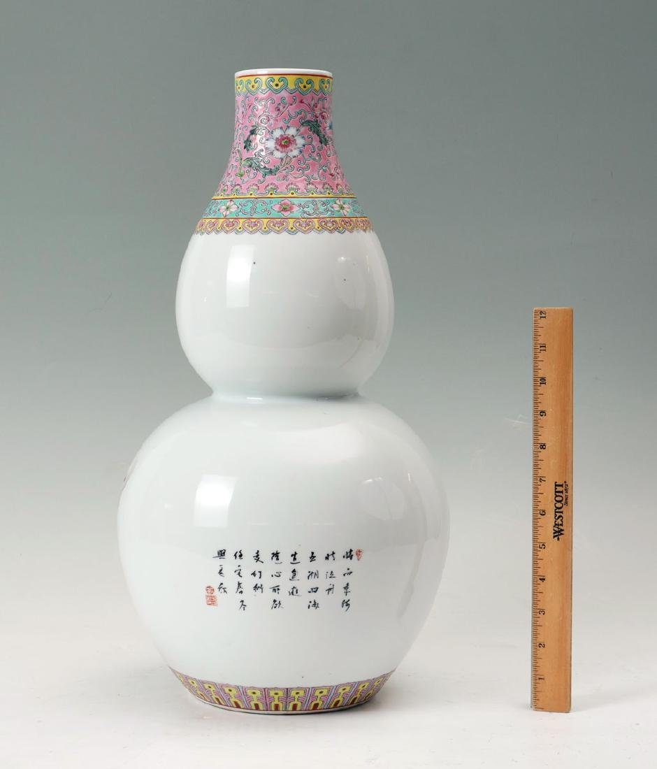 CHINESE DOUBLE GOURD 8 IMMORTAL VASE - 2