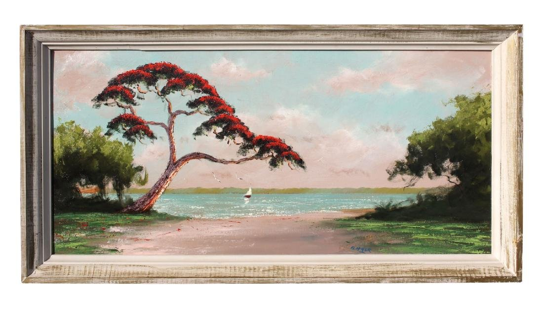 LARGE ALFRED HAIR FLORIDA HIGHWAYMEN PAINTING - 2