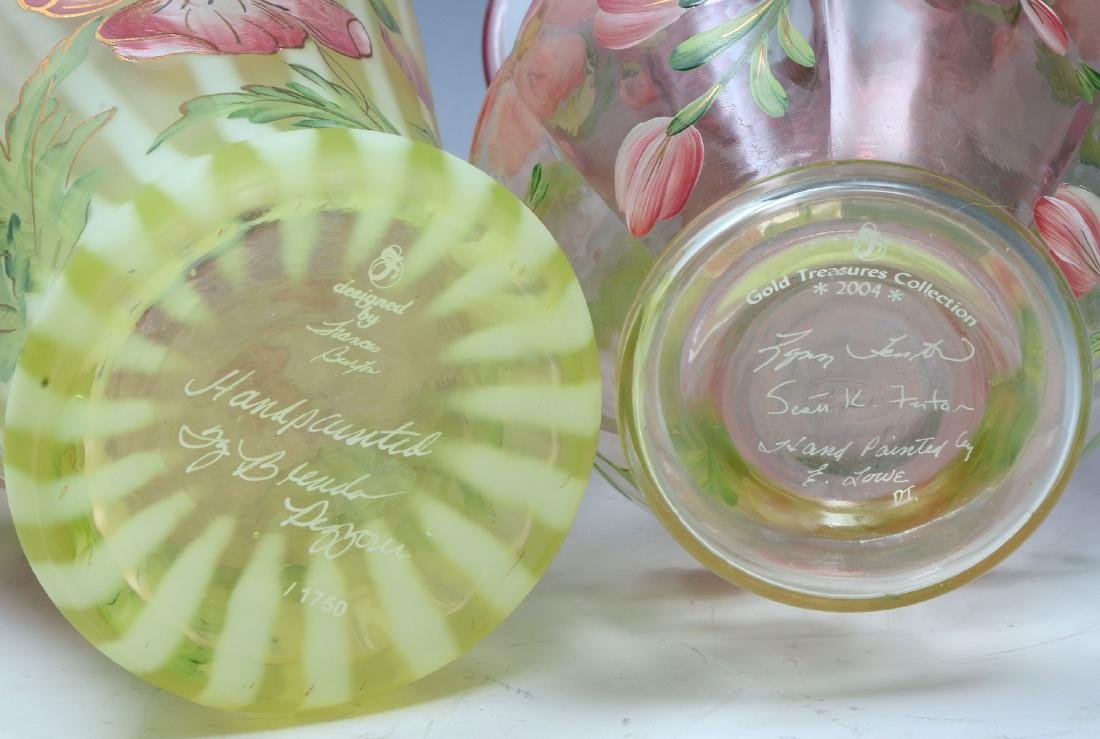 6 PIECE VASELINE GLASS COLLECTION - 2