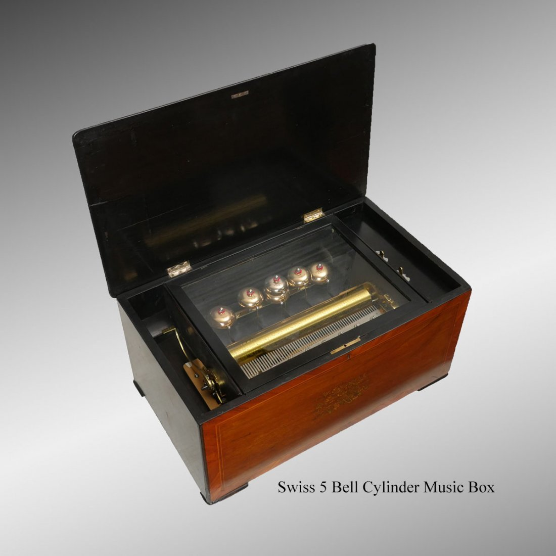 VICTORIAN CONTINENTAL 6 BELL MUSIC BOX