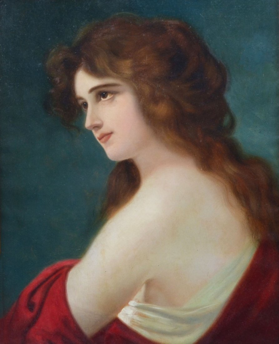 19TH CENTURY PAINTING OF A YOUNG BEAUTY SIGNED CHAPLIN