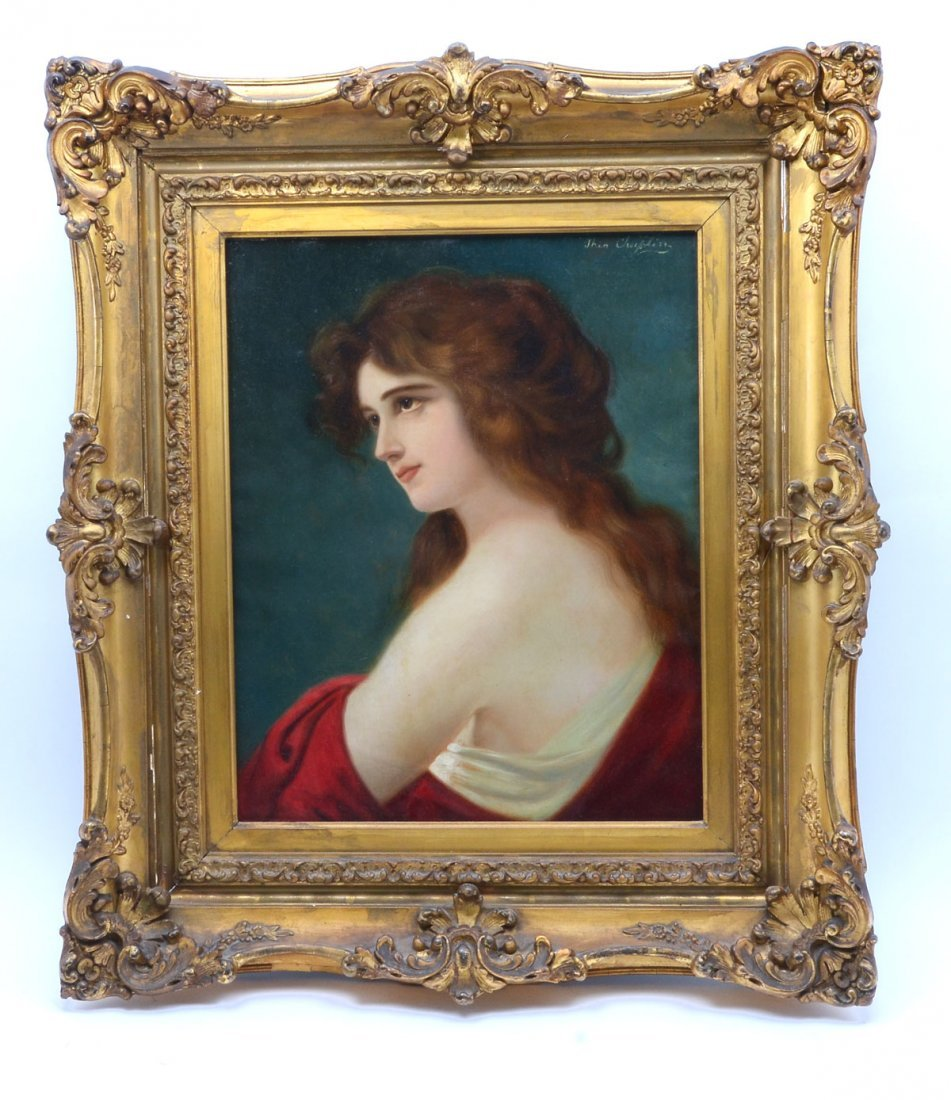 19TH CENTURY PAINTING OF A YOUNG BEAUTY SIGNED CHAPLIN - 2