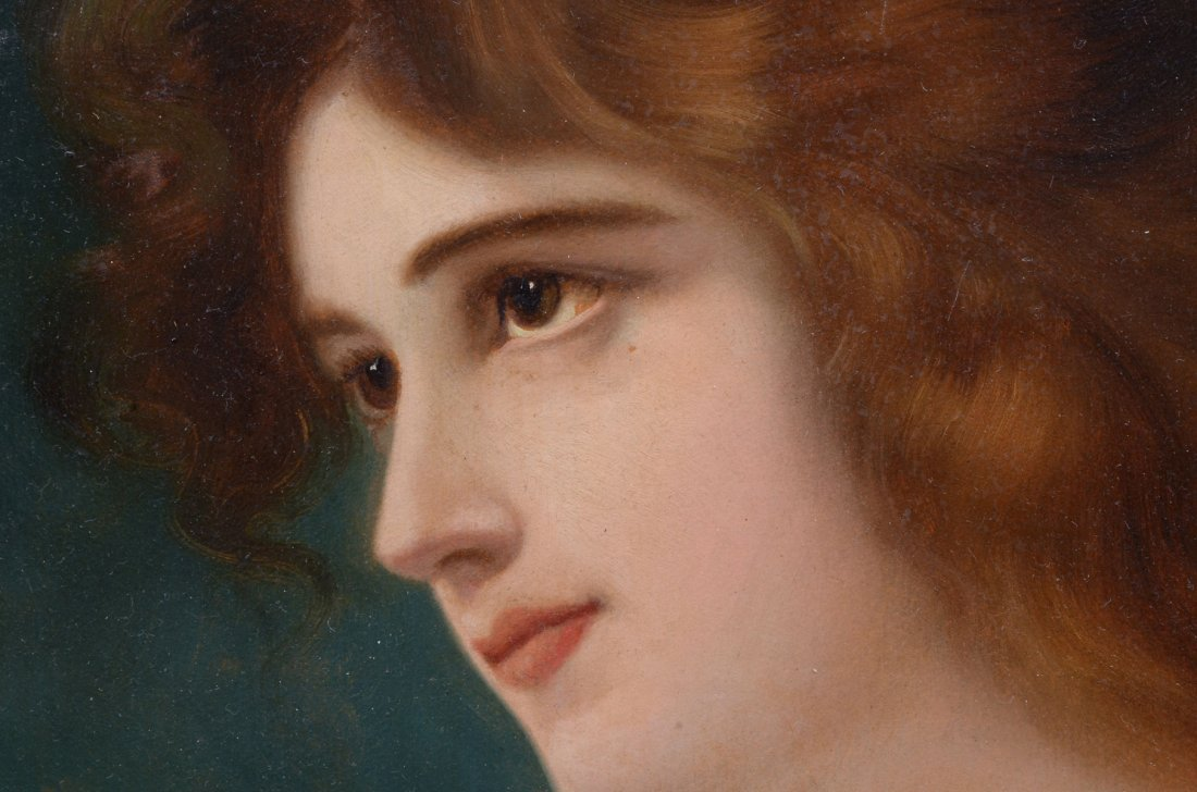 19TH CENTURY PAINTING OF A YOUNG BEAUTY SIGNED CHAPLIN - 3