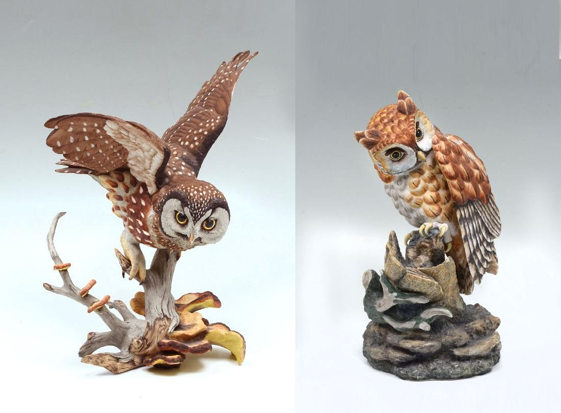 2 LIMITED EDITION BOEHM OWLS